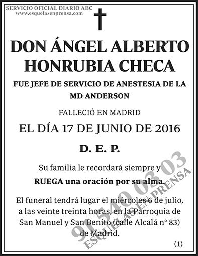 Ángel Alberto Honrubia Checa